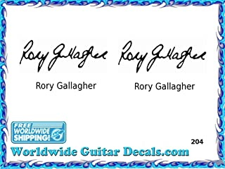 Rory Gallagher Famous guitar signature players guitar decal waterslide 204