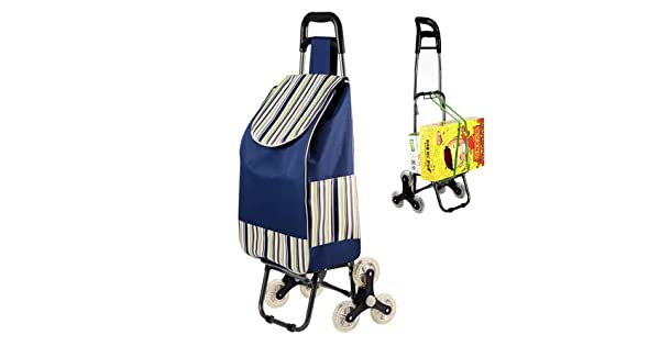 Maximum Capacity 50 Kg Detachable Bag Shopping Trolley, Shopping Cart Collapsible Shopping Cart With Wheels 39.4L Large And Light Utility Vehicle With Front Wheel Rotatable Push-pull