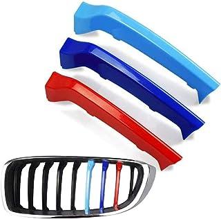 Car Styling accesorios principales de la parrilla del frente for deportivo M rayas Grill cub For B-MW X1 E84 F48 renales Parrillas Accesorios Insertar-M-Color de la parrilla del frente raya Adhesivos