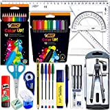 Coleset School Material Pack Secondary School School High School School School Kit Cheap School Compas Set Adapter Set Kawaii Square Materials and Cartabon Calibrated Markers