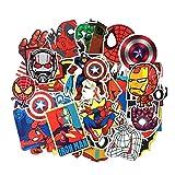 yunkanda 50 Unids/Set Marvel Super Hero Pegatinas Vengadores Pegatinas De Hierro Joker...