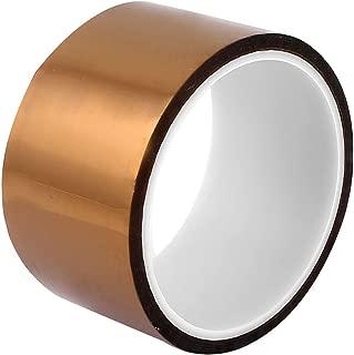 WINGONEER 50mm x 33mポリイミド耐熱耐熱接着剤ゴールドテープ3Dプリンタプラットフォーム/電気タスク/はんだ付けタスク