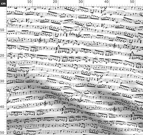 Musiker, Klavier, Musik, Musical, Noten Stoffe - Individuell Bedruckt von Spoonflower - Design von Inspirationz Gedruckt auf Baumwollstoff Klassik