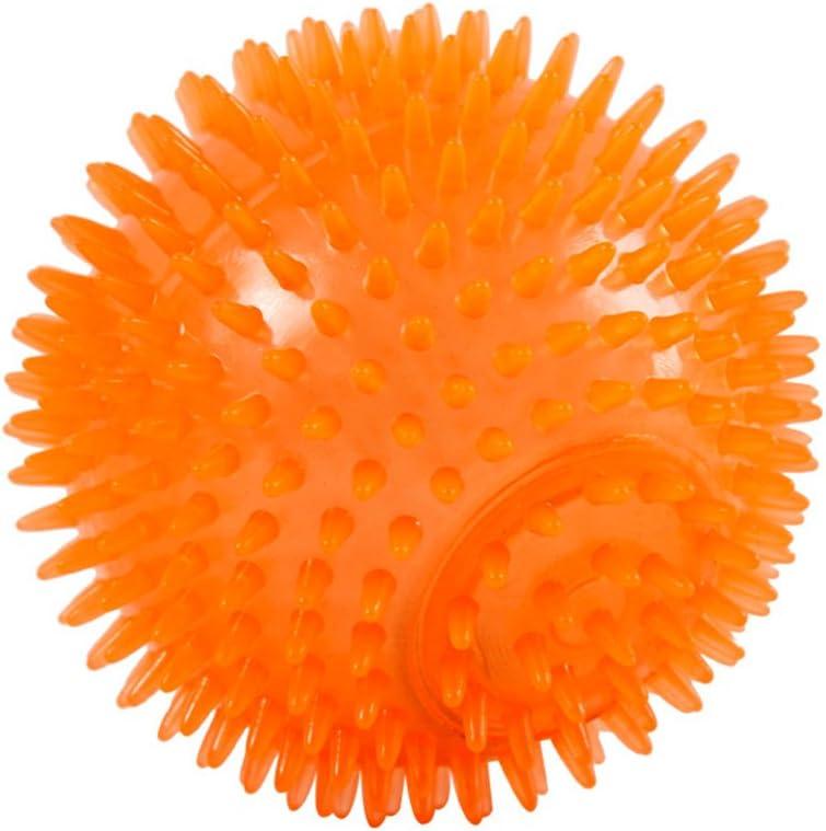 Popepepop per masticatori di piccole dimensioni e medie 6 cm palla giocattolo squittico per cani con rimbalzo alto verde