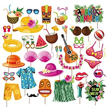 Best tropical photo booth props Reviews