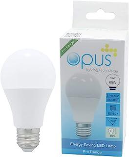 3 x Opus 10W = 60W LED GLS Light Bulbs Daylight ES E27 Screw Cap