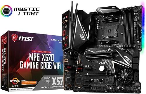 MSI Components MPG X570 Gaming Edge WiFi Gaming Motherboard (AMD AM4, DDR4, PCIe 4.0, SATA 6Gb/s, M.2, USB 3.2 Gen 2,...