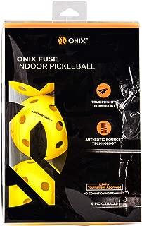 Escalade Onix Fuse Indoor Pickleballs, Yellow (pack of 6)