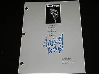 NICK CASTLE Signed HALLOWEEN SCRIPT Autograph Michael Myers The Shape