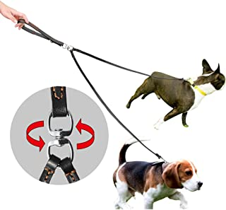 PET ARTIST 2 Way Tangle Free Dog Leash, Double Dog Leash No Tangle Coupler Twin Dog Lead Walking Leashs for Small Medium Large Dogs