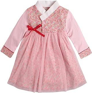 PAUBOLI Baby Girl Korean Clothes Long Sleeve Romper Dress Korean Hanbok