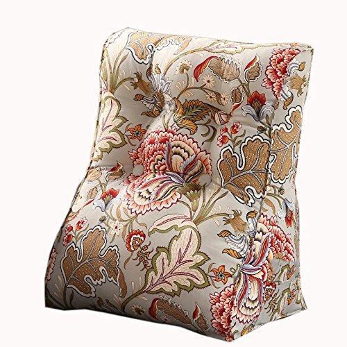 uus Simple Triangle Canapé Coussin Siège de la chaise Coussin de motif végétal utile Rebondissement lent Design ergonomique Dossier confortable 45 * 55cm / 55 * 60cm ( taille : 55*60cm )