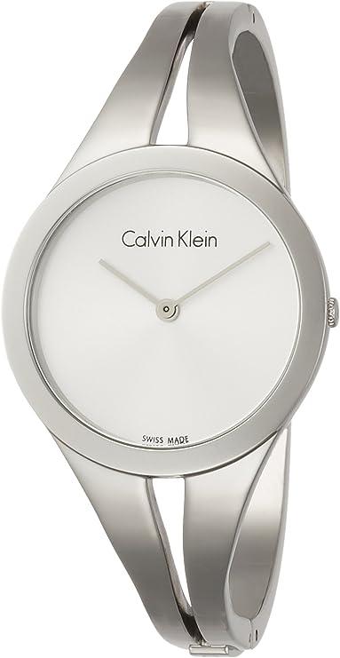 Calvin Klein Reloj Analogico para Mujer de Cuarzo con Correa en Acero Inoxidable K7W2M116