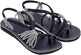 c668d22231 Zapatos Mujer Verano 2019 Sandalias Planas - Talla 34-42 - Casual Bohemia  Romanas Chanclas