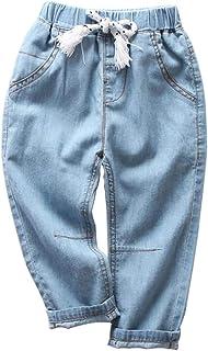 UWBACK Unisex Baby Boys Jeans Elastic Waist Denim Pants for Girls 18M-9 Years