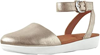 FitFlop Womens Cova Closed Toe Leather Sandal Shoes