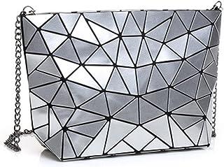 Flada Hologramm Geometrische Split Joint Plaid Kette Schultertaschen für Frauen