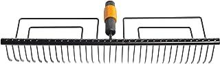 Fiskars Gazonhark, gereedschapskop, met 35 tanden, breedte: 57 cm, gehard staal, zwart, QuikFit, 1000656