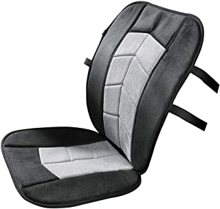 Memory Foam Car Seat or High-Back Office Chair Cushion, Cover, Black/Gray, One Size Fits All