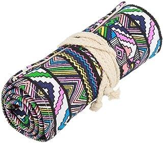 Rouleau de crayons de couleur en toile style national 12/24/36/48/72 emplacements pour crayons de couleur, motif éléphant,...
