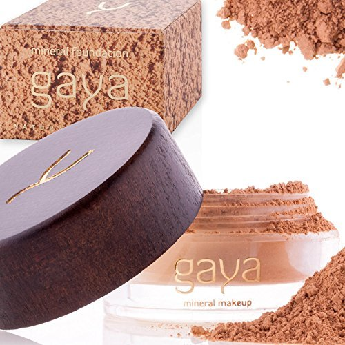 Mineral Foundation Make Up Puder – Vegane Professionelle Natürliche Full Coverage Hochdeckendes Makeup Powder für empflindliche Haut (Schattierung MF5)