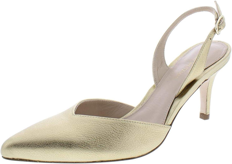 Stuart Weitzman Womens Sleek Solid Pumps Slingback Heels