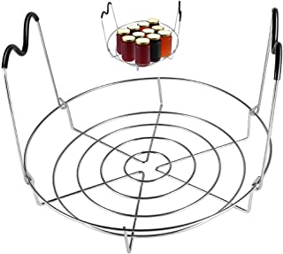 Picowe 12inch Canning Rack, Stainless Steel Steamer Canning Jar Rack with Silicone Handle, Canner Rack Canning Supplies Ki...