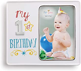 My 1st Birthday 8 x 7 Ceramic with metal accents Picture Frame