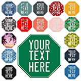 United Craft Supplies Custom Stop Signs Outdoor Metal Custom Parking Sign for Business - Make Your Own Sign 12x12…