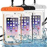 DLAND Custodia Impermeabile 3 Pack, Telefono Cellulare Dry Bag Marsupio per attività all'aperto e Dispositivi Fino a 6.0in- Glow in Dark