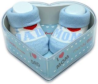 Meray, Calcetines de bebé recién nacido, 0 – 3 meses, para niños y bebés, de algodón grueso y asas antideslizantes, regalo perfecto para recién nacidos, bebés y baby showers |