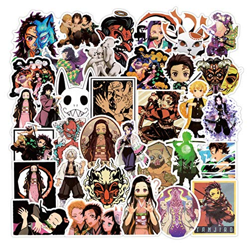 Cool Cartoon Sticker Packs Fashion DIY Laptop Anime Sticker Durable Waterproof Decal Skateboard Snowboard Car Bicycle Luggage Decal Pack for Teens, Boys, Girls (Sticker 8)