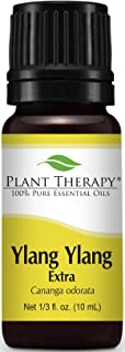 Plant Therapy Ylang Ylang Extra Essential Oil 10 mL (1/3 oz) 100% Pure, Undiluted, Therapeutic Grade