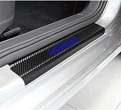 SENYAZON Car Threshold Pedal Sticker for Dodge Charger Decoration Scuff Plate Carbon Fibre Vinyl Sticker Car Accessories car-Styling (Blue)