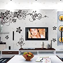 Black Butterfly diagonal rattan black TV background Removable Wallpaper Home Decoration wall sticker