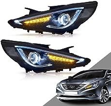 MOSTPLUS Headlight LED DRL Headlights lamp for Hyundai Sonata 2011 2012 2013 2014 (Set of 2)