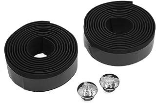 uxcell 2 Pcs Black Foam Anti Slip Handlebar Tape Bar Grip Wrap for Road Bike Bicycle Cycling