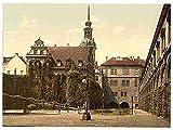 Cinta de doble cara de Metal Sign el castillo Altstadt Dresden Sajonia A4 12X8 diseño de aluminio