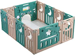 Baby playpen-SYY Starry Sky Children s Private Amusement Park Easy Install Material Safety Structural Reinforcement Design  Color Green  Size 220 185cm