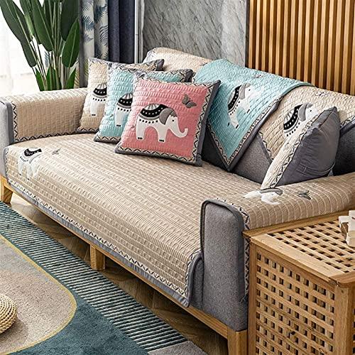 L&B-MR Funda de sofá seccional para sofá, funda antideslizante para sofá de 3 cojines, lavable, protector de muebles para mascotas y perros