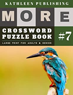 Crossword Puzzles Large Print: More Crosswords Quiz for beginners Large Print for adults & senior | Bird Design (crossword books quick)