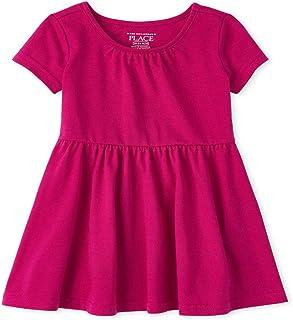 فستان كاجوال للفتيات بأكمام قصيرة مطوي من ذا كيدز بليس