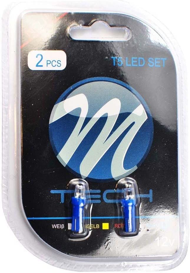 M-Tech lb002b Blister 2x LED T512V Concave Spring new work one after another Excellent