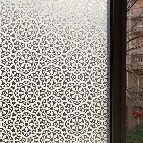 Pegatinas de ventana mul-tamaños decorativos de privacidad ventana película estática adherencia adhesiva película de vinilo manchado de vidrio pegatinas de aislamiento térmico 30 x 150 cm