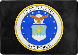 KRERVKE Rug United States Air Force Soft Non Slip Floor Mat Living Dinning Room Bedroom Kitchen Footcloth 5' X 7'(58 X 80 Inches)