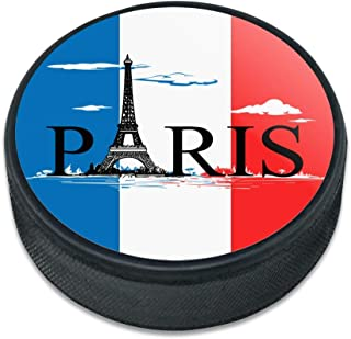 GRAPHICS & MORE Paris France Eiffel Tower Flag Clouds Ice Hockey Puck