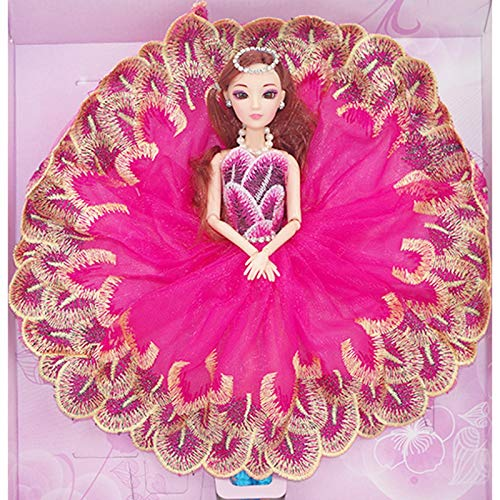 LEIYU Andrea Peacock Princess Doll Girl Princess Doll Set Modelo 1