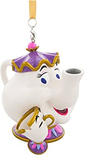 Disney Parks Beauty and the Beast Mrs. Potts and Chip Figurine Ornament