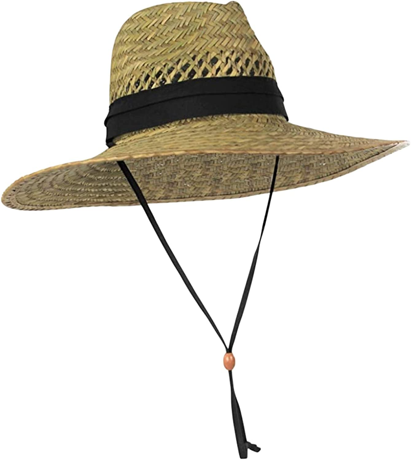 Men's Straw Outback Lifeguard Sun Brim Wide Long-awaited with Selling and selling Tan Hat