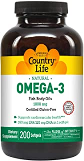 Country Life Natural Omega-3 1000 mg - 200 Count